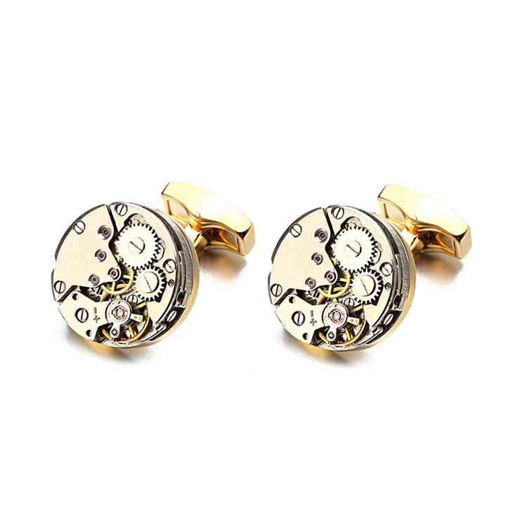 Watch Movement Cufflinks For Immovable Stainless Steel Steampunk