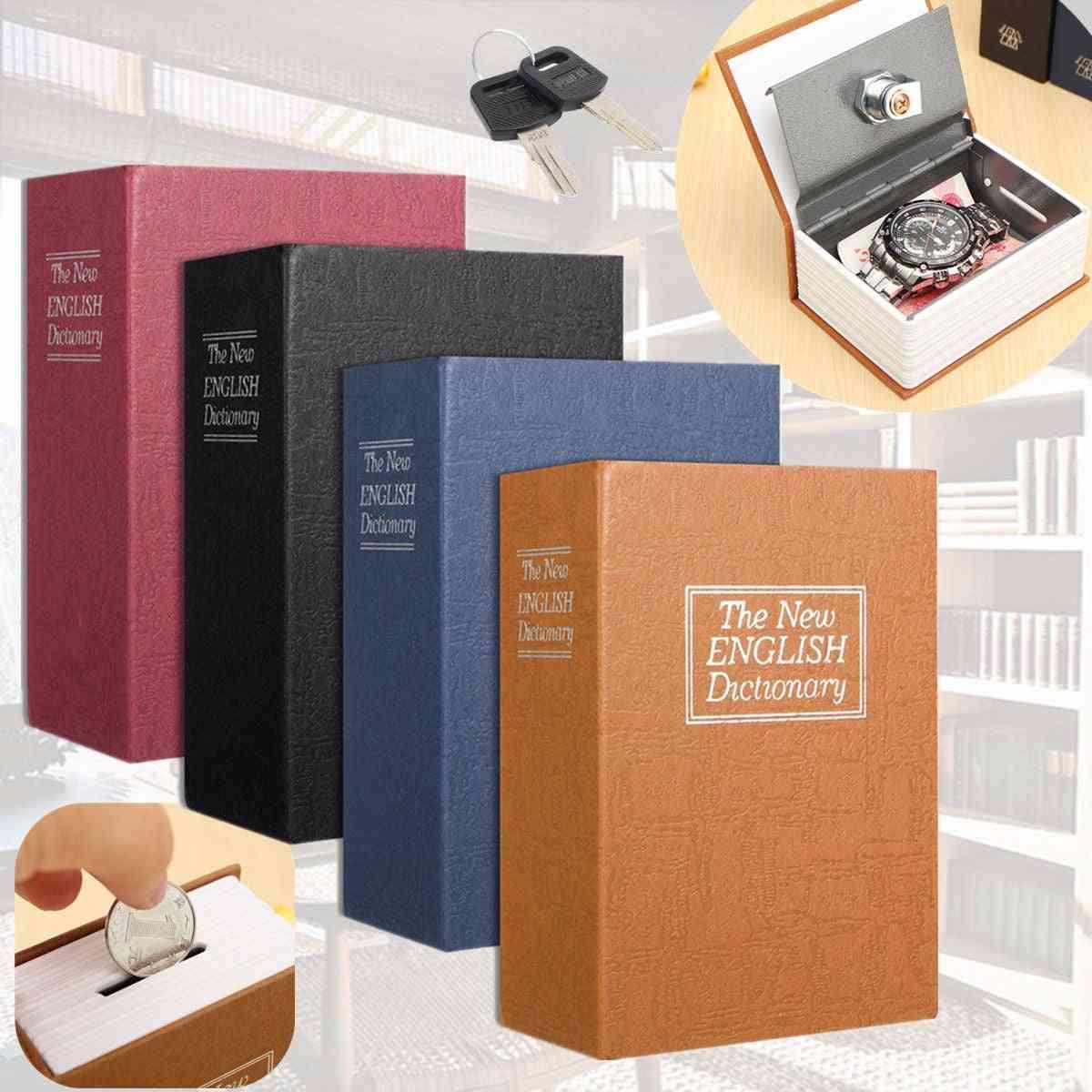 Dictionary Book Bank, Money Cash Home Storage Safe Box