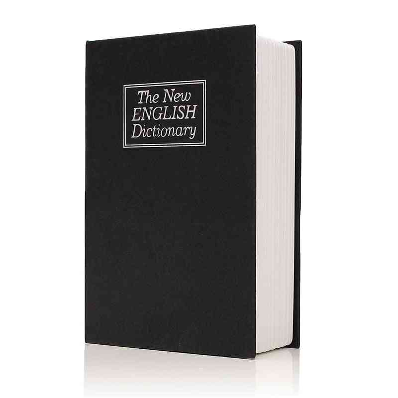 Dictionary Book Secret, Security Safe Key Lock, Cash Money Jewellery Locker Durable