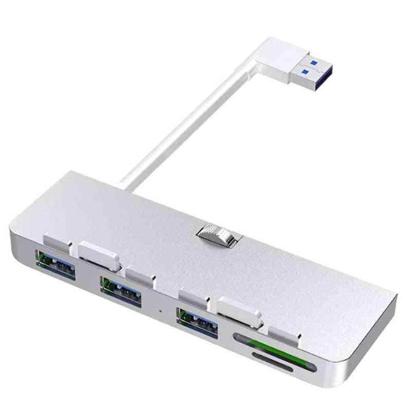 Rocketek Aluminum Alloy Usb 3.0 Hub 3 Port Adapter Splitter With Sd/tf Card Reader