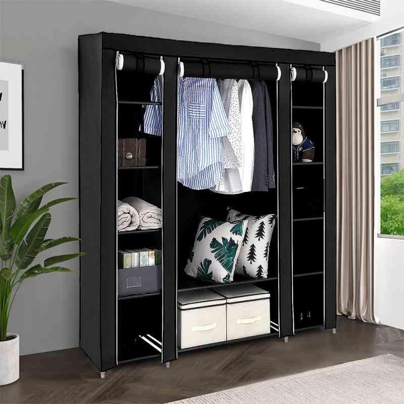 Non-woven Wardrobe Bedroom Cloth Wardrobe, Folding Portable Light Clothing Storage Cabinet