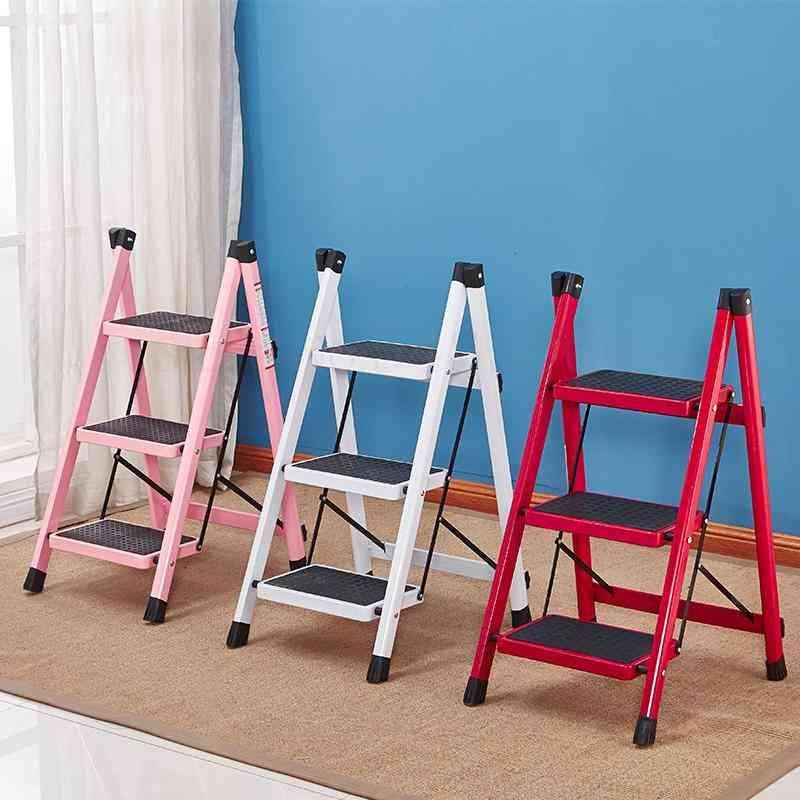 Household Folding Ladder Stool, Multifunctional Escalator Thickened Iron Tube Pedal