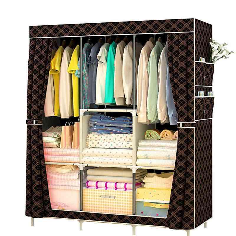 Non-woven Cloth Wardrobe Fabric Closet, Portable Folding Storage Cabinet