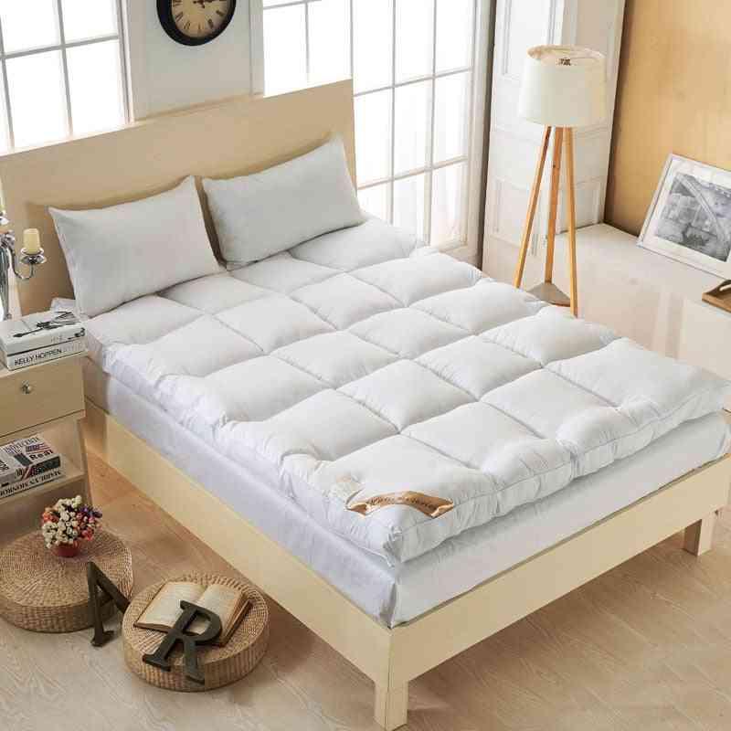 Thicker Goose Down Fiber Mattress Topper Bed Single Twin Queen Size
