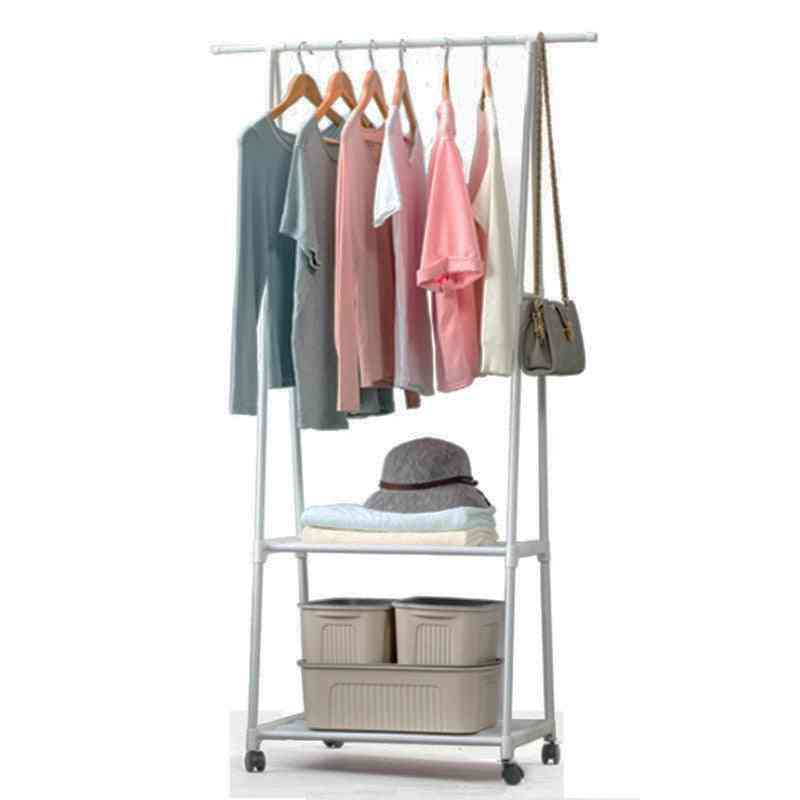 Removable Hanging Clothes Rack With Wheels