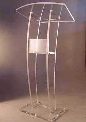 Clear Acrylic Low Podium Stand