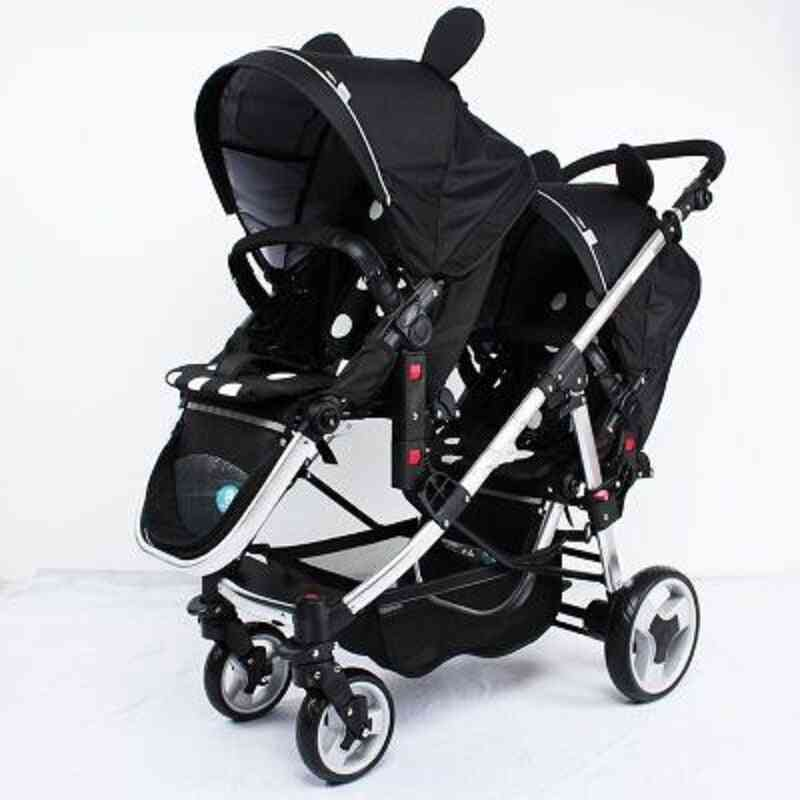 Multi-functional  Double Trolley Two-way Baby Stroller