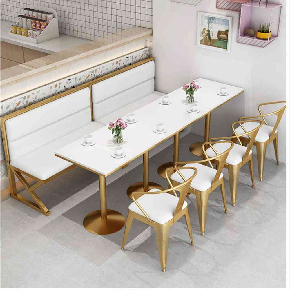 Tea Shop Booth Sofa Tables And Chairs Combination Nordic Simple Leisure Red Restaurant