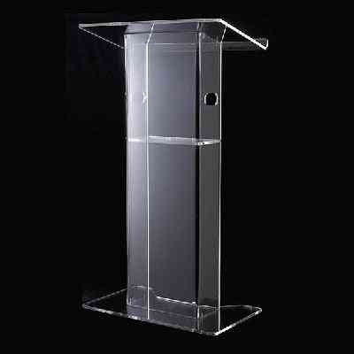 Acrylic Podium Church Pulpit Perspex Clear Lectern