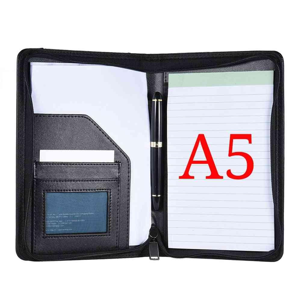 Portable Business Portfolio, Document Case With Business Card Holder, Memo Note Pad