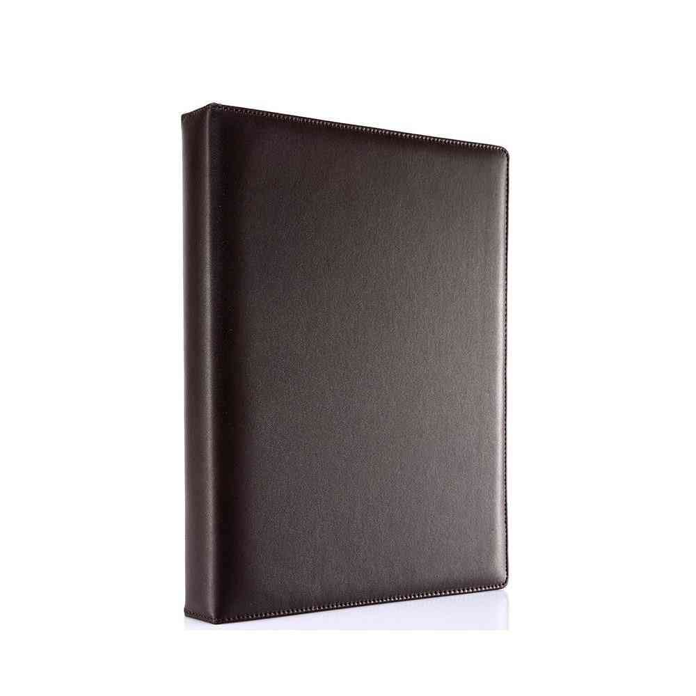 3-ring Pu Leather Binder Files, Travel Portfolios, Fashion Style For Business, Office