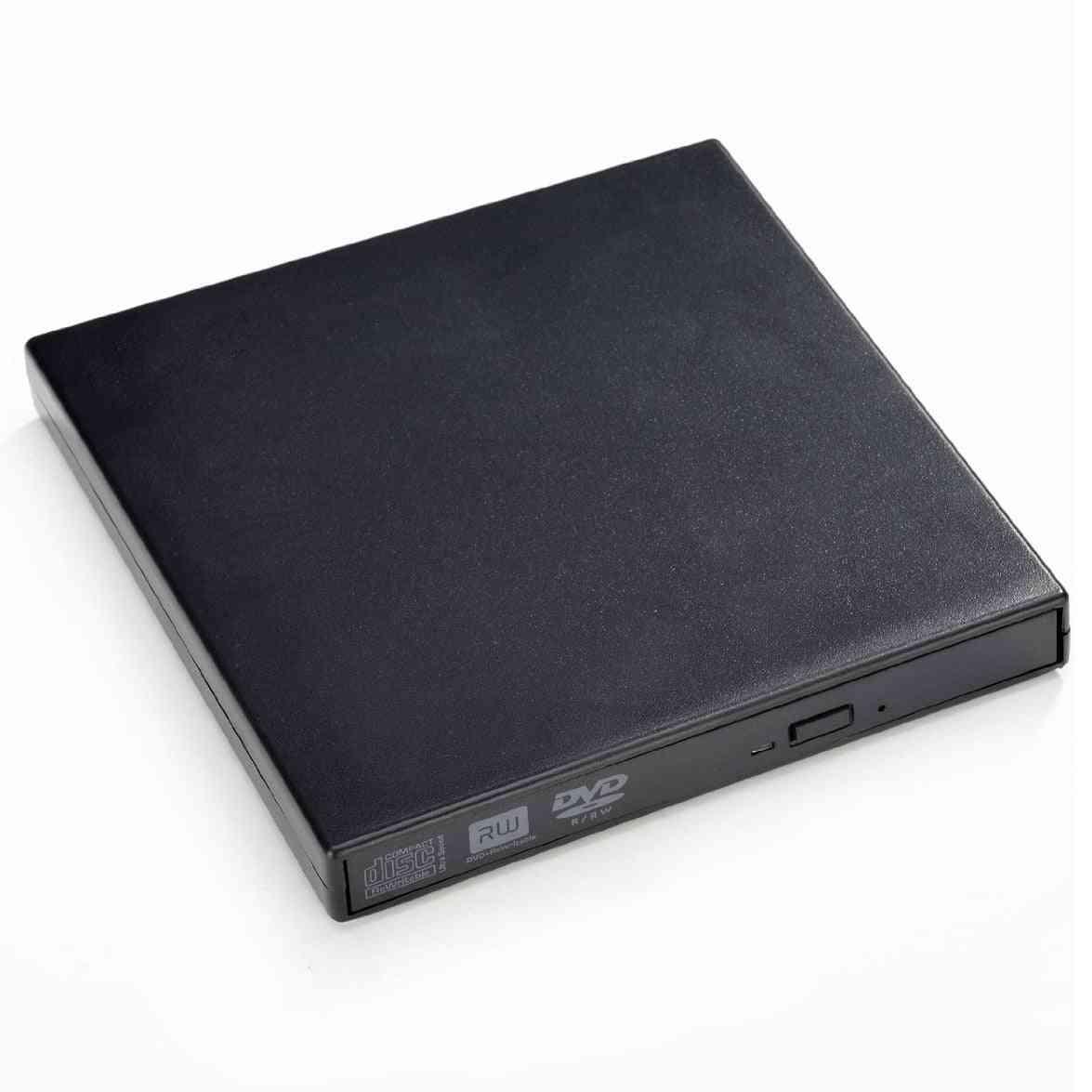 Portable Slim External Usb Dvdrom Burner Writer Optical Drive For Laptop/notebook/pc