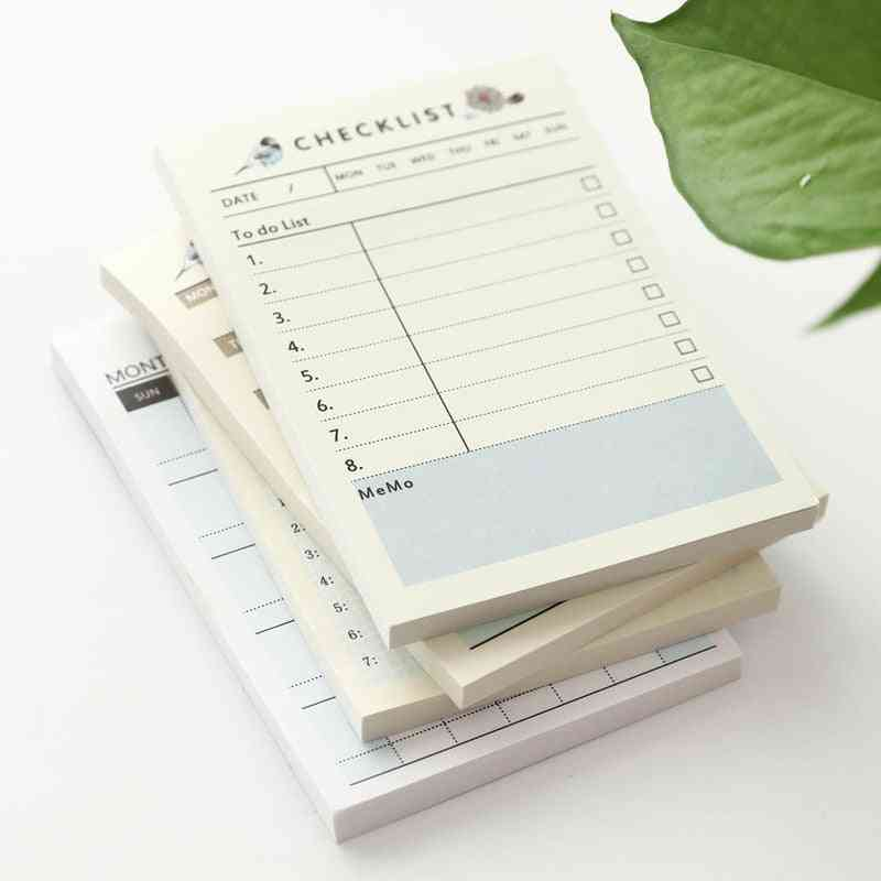 Portable Pocket Notebook Weekly, Monthly, Book Diary For Daily School, Work Planner