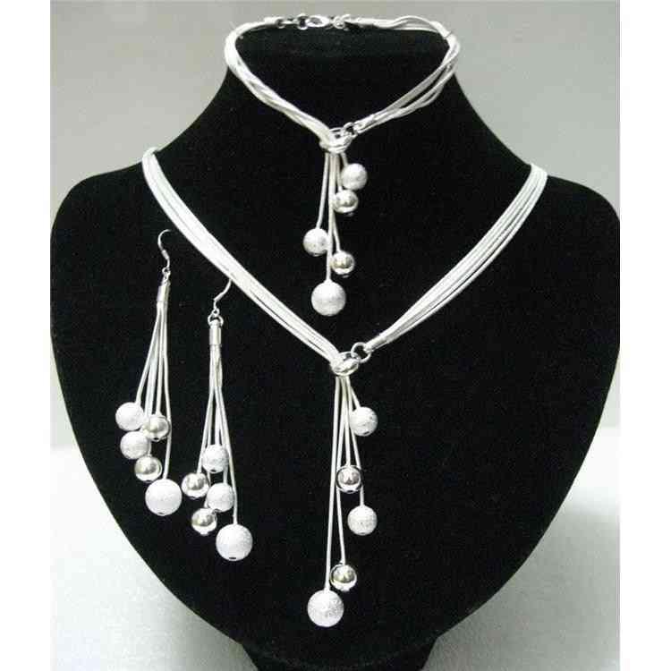 High-quality Five-wire Beads Wedding Jewelry Party Three-piece