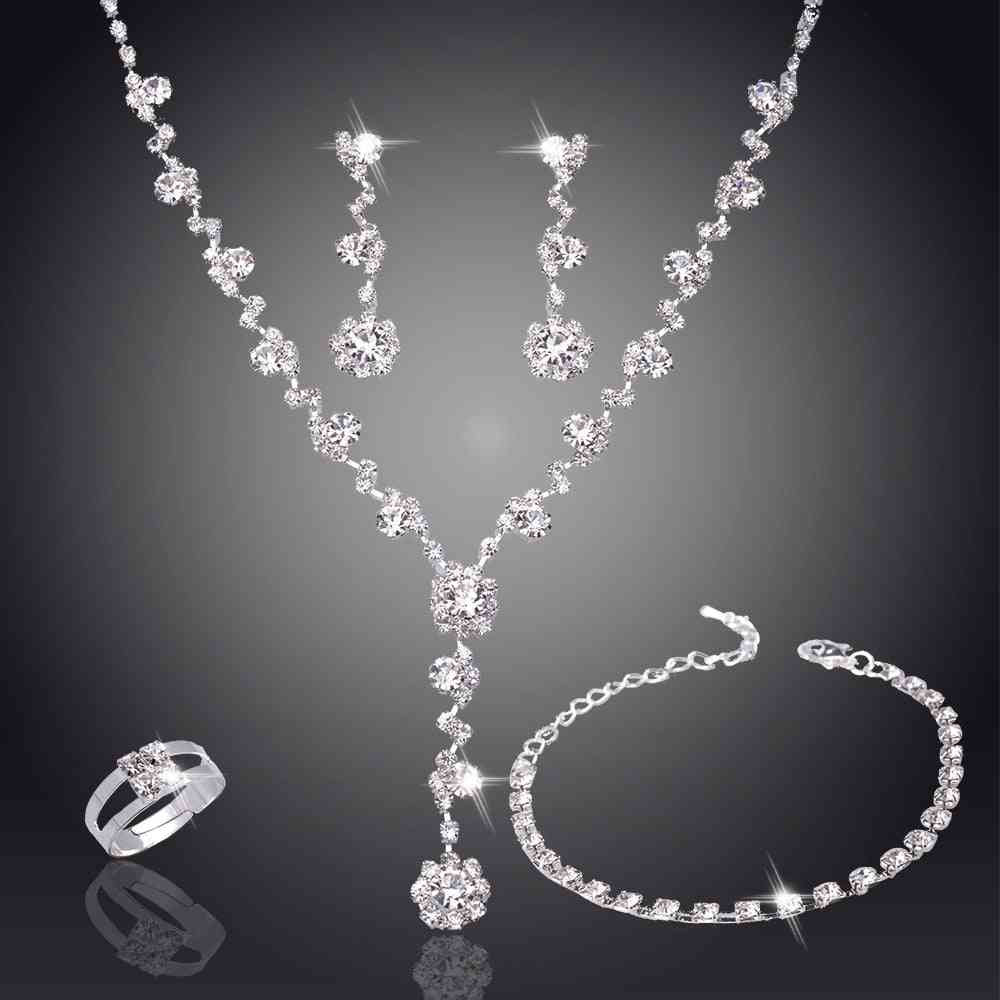 Crystal Earring Wedding Bridesmaid Jewelry Set