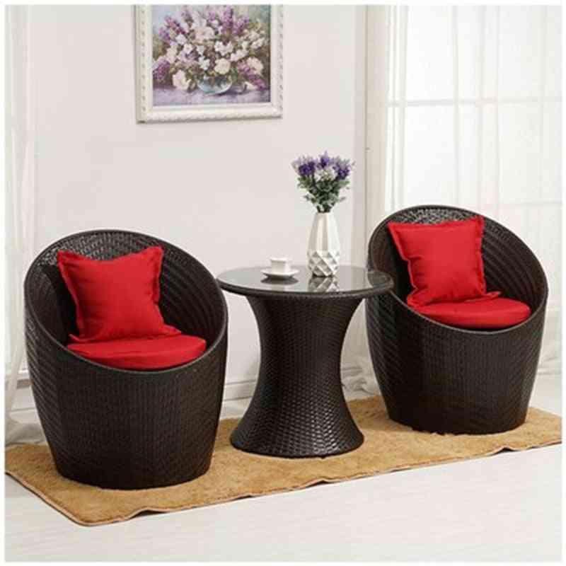 Rattan Chairs Outdoor Furniture Garden Relaxing Patio Set