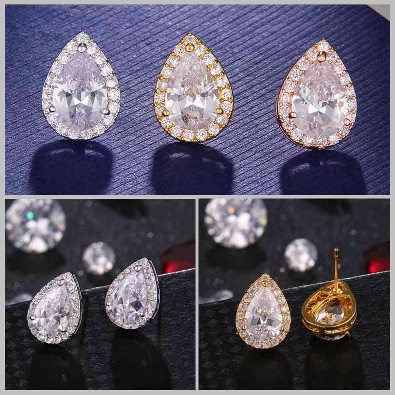 Wedding Inlay Luxury Crystal Bridal Jewelry Set