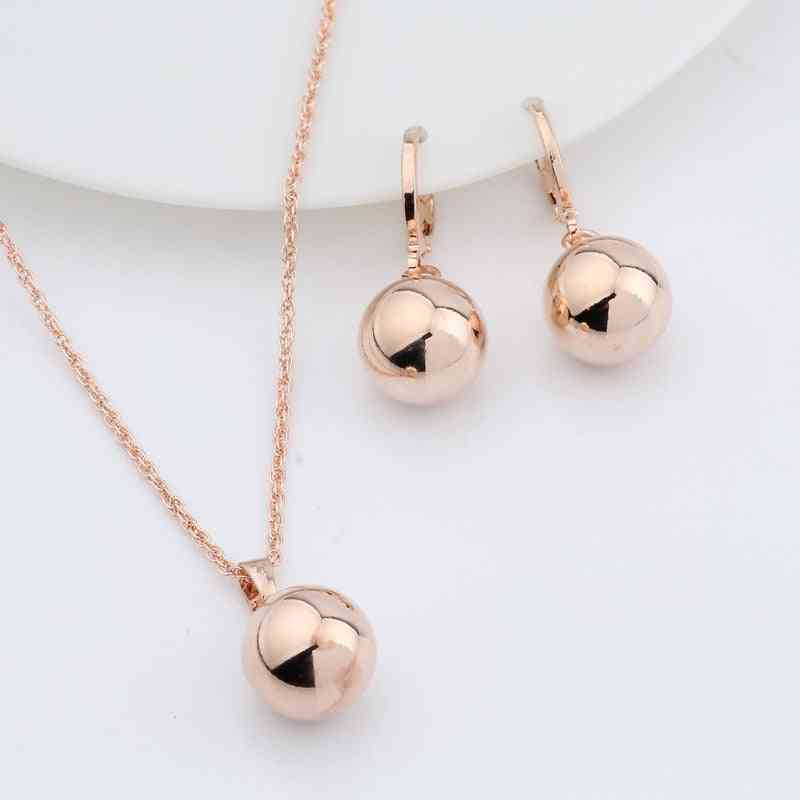 Geometric Earrings Wedding Party Exquisite Jewelry Set