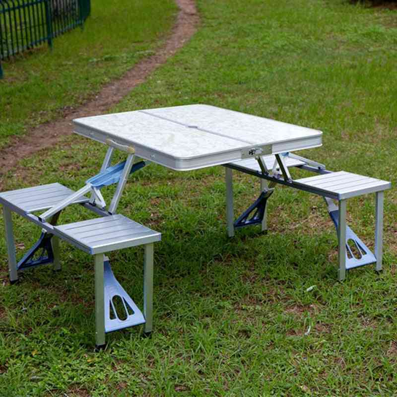 Outdoor Folding Table Chair Set - Portable Camping Picnic Furniture