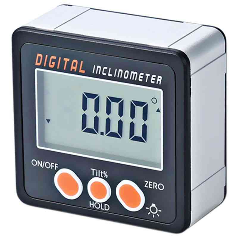 Digital Inclinometer, 0-360 Angle, Triangle Ruler, Electronic Protractor, Shell Box