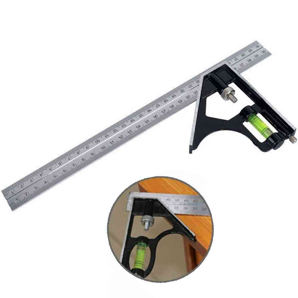 Metal Square Ruler, 45/90-degree Horizontal, Angle Rulers For Woodworking Tools
