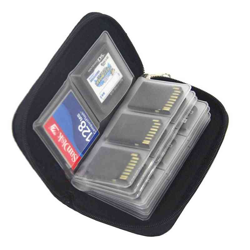 Memory Card Storage Bag Carrying Case Holder Wallet For Cf/sd/micro Sd/sdhc/ms/ds