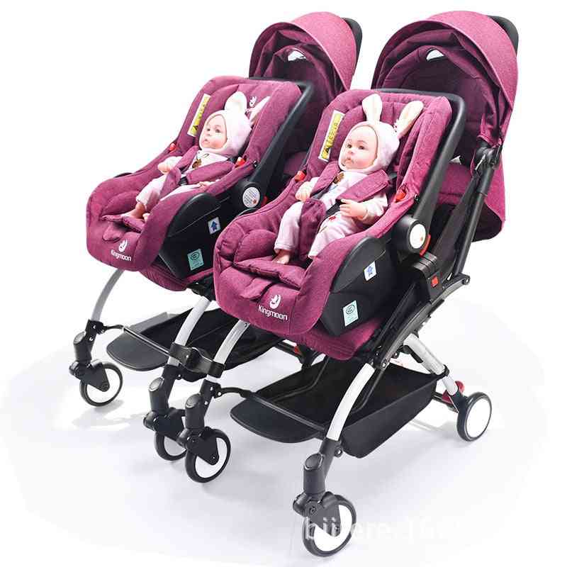 Newborn Light Pocket Baby Stroller, Second Child Portable Folding Basket Baby Carriages
