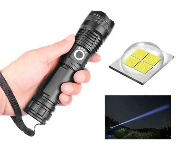 Vip Lumens Lamp Most Powerful Flashlight Zoom Led Torch Battery Best Camping (package A)