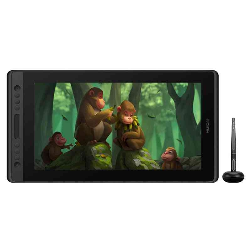 Digital Drawing Pad Monitor Battery-free Pen 15.6 Inch Display With Ag Glass Tilt Function
