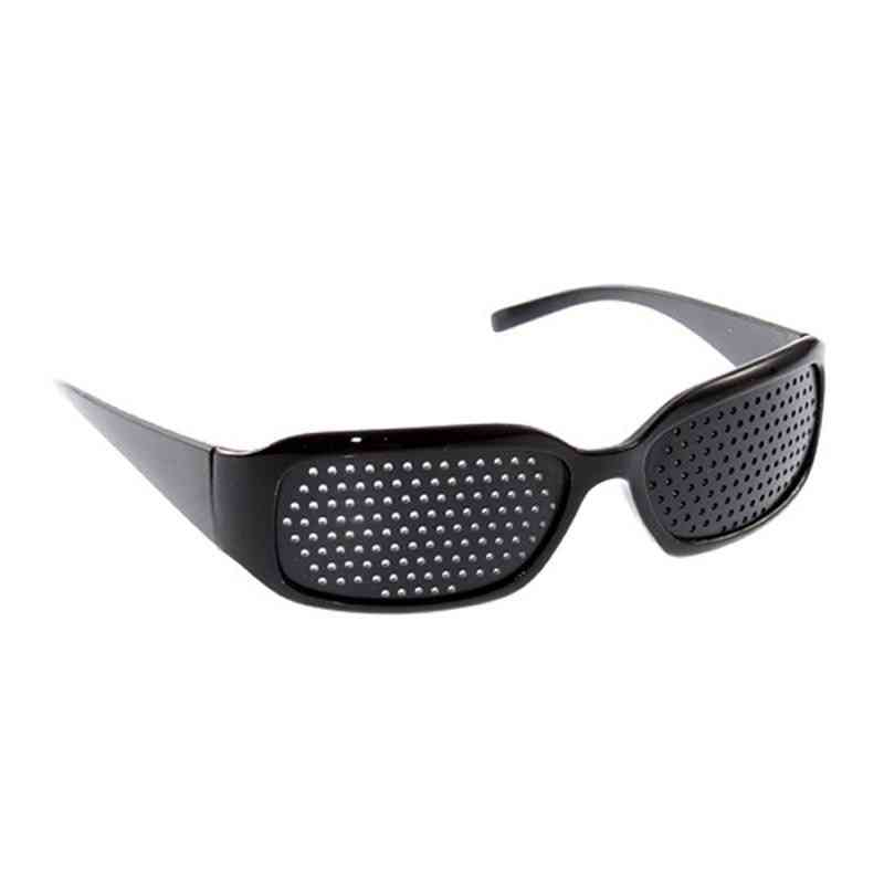 Improve Pinhole Eyeglasses Exercise Vision Healing Improvement Care (black)