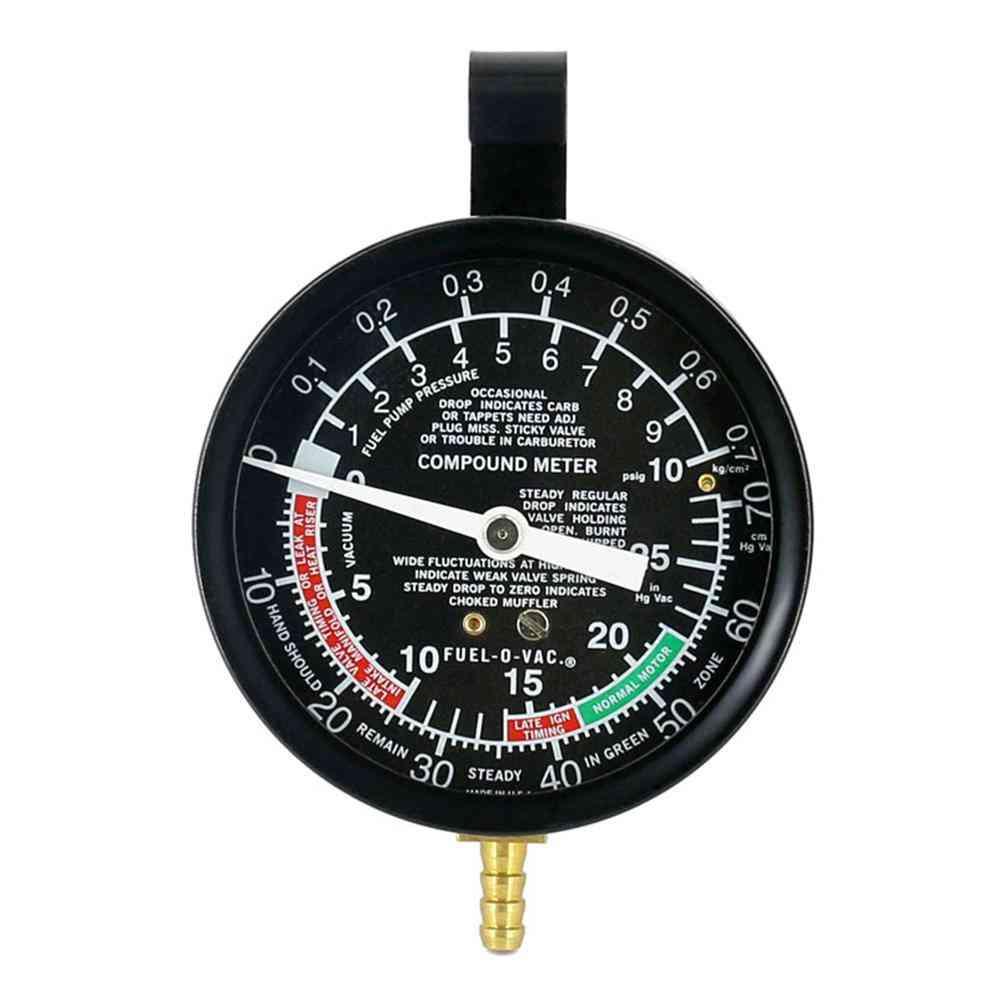 Fuel Pump Pressure- Vacuum Tester Gauge Test Kit