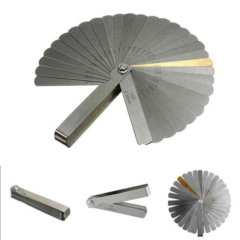 Metric Measuring 32 Blade Feeler Gauge-dual Reading Stainless Steel Ruler