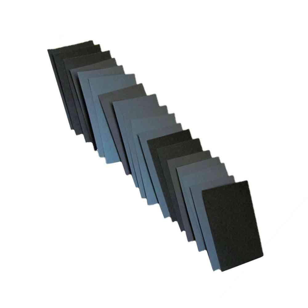Sandpaper Sheets Wet Dry Grit Assortment Polishing Sanding Wood Furniture Car Paint Tool