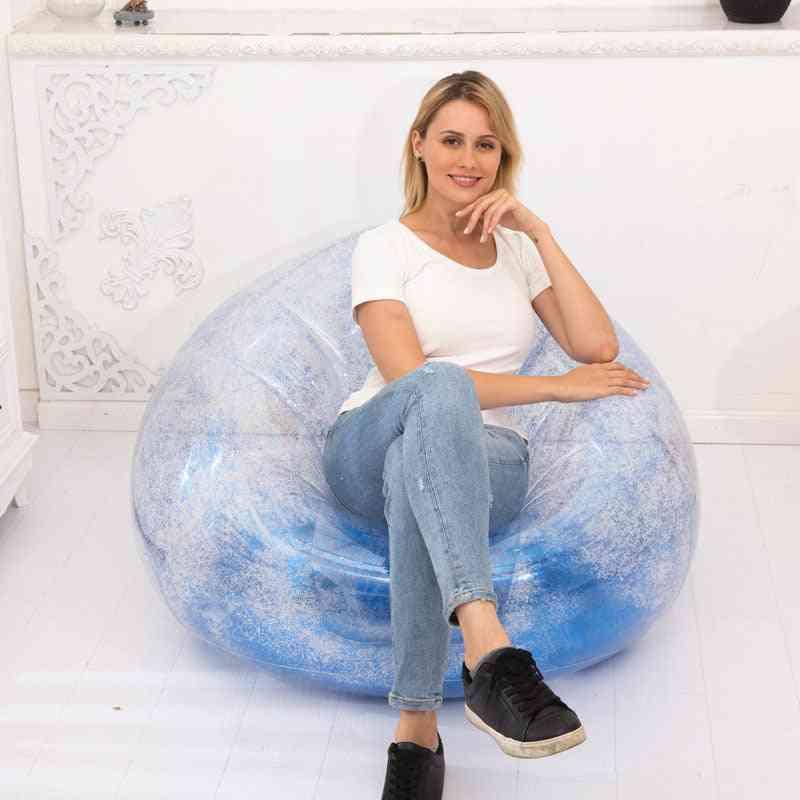 Inflatable Sofa Garden Beach Chair, Outdoor Sleeping Rest Bag Bed Air Chairs