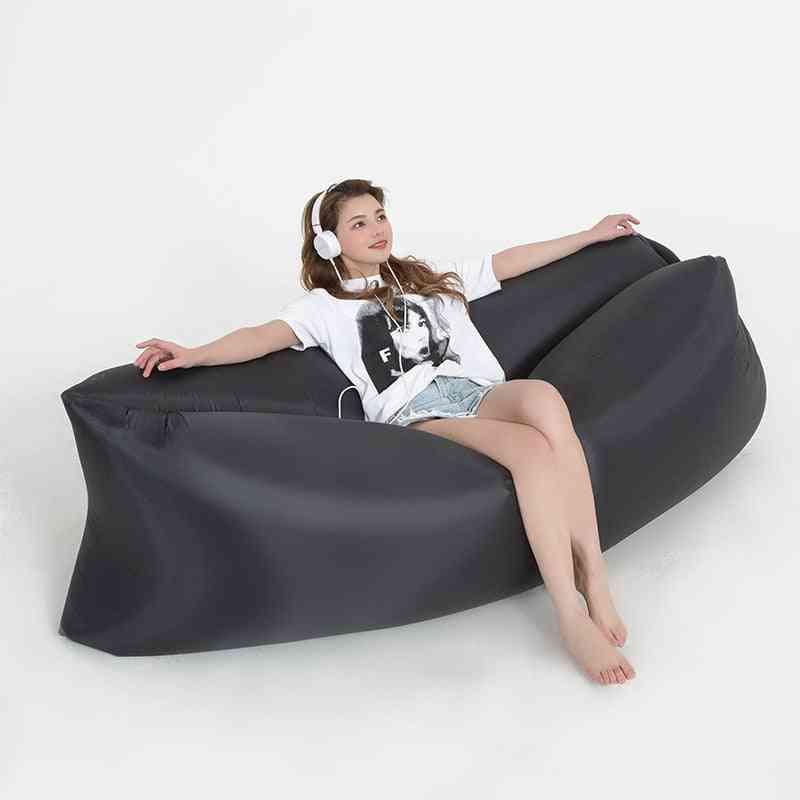 Outdoor Camping Inflatable Sofa, Portable Ultralight Beach Sleeping Bag Air Bed