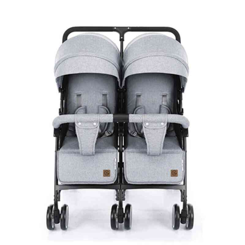 Twins Baby Stroller Sitting And Lying Portable Carriage Folding Seat