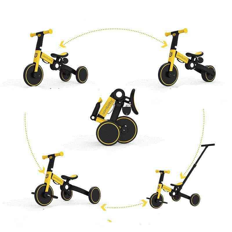 5 In1 Baby Stroller, Pedal Tricycle Two-wheel Balance Bike