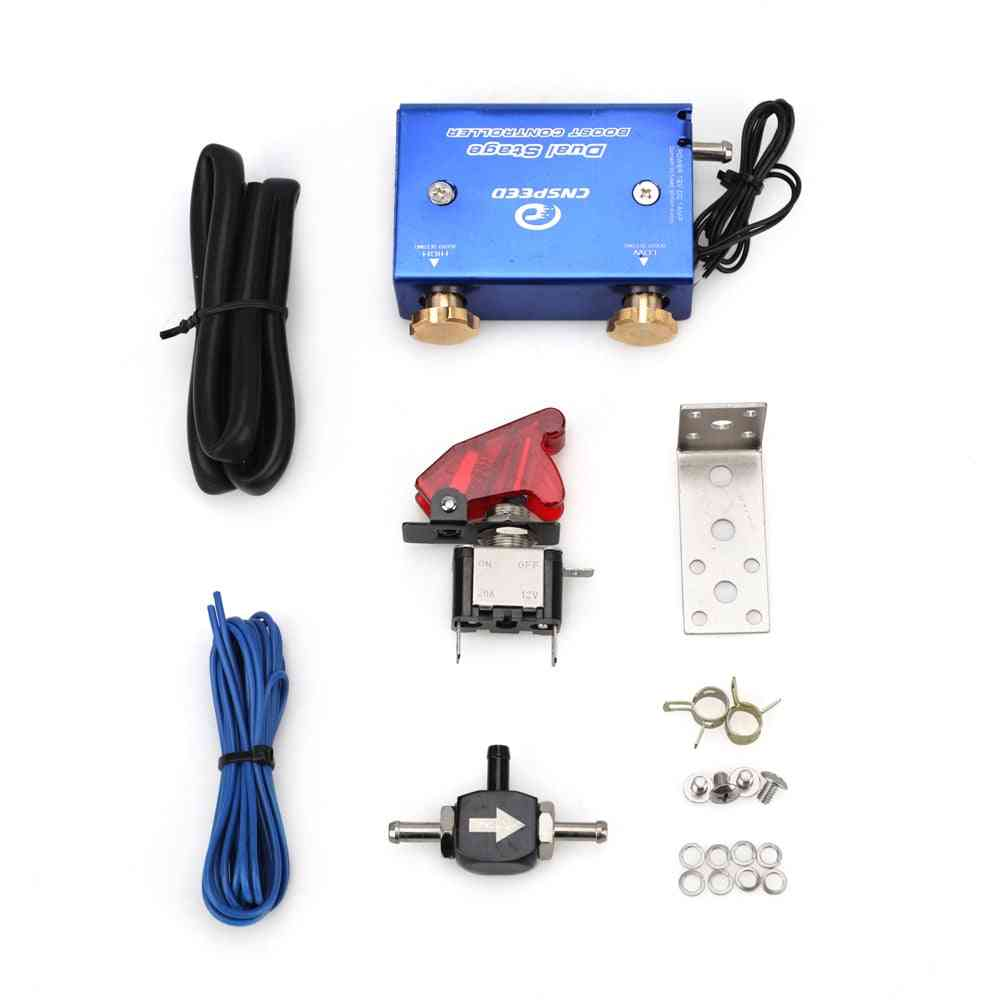 Dual Stage Electronic Turbo / Turbocharger, Psi Boost Controller Kit Switch