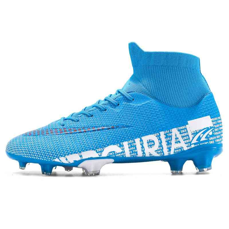 Outdoor Soccer Shoes, Football Boots High-ankle Training Sport Sneakers