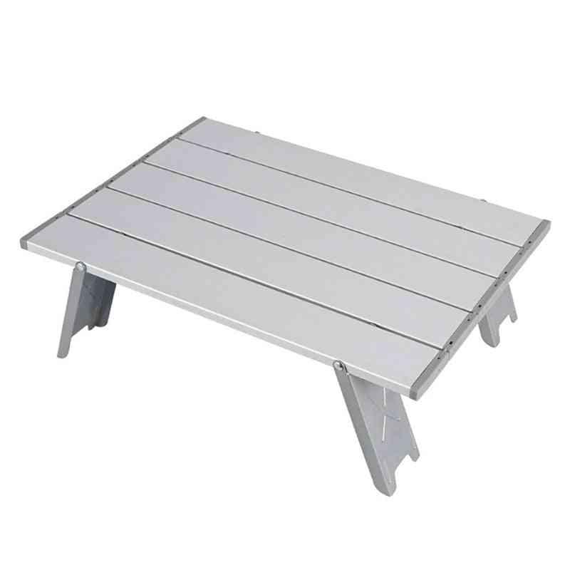 Mini Outdoor Aluminum Alloy Folding Table, Collapsible Computer Desk