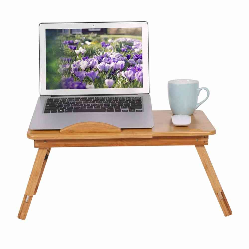 Adjustable Laptop Desk Computer Foldable Stand Desk Table Tray Bed Mouse Holder  Ventilated And Ergonomic