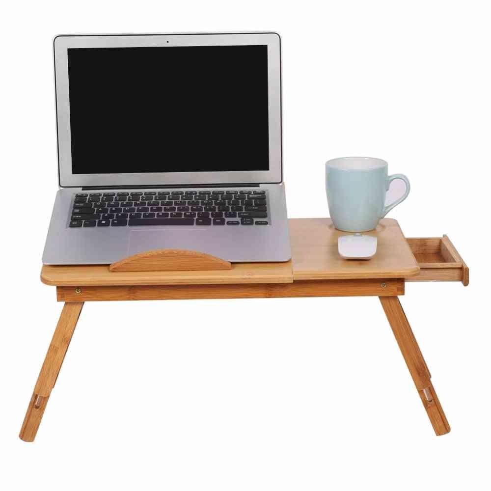 Adjustable Folding Computer Desk Bed Office Notebook Table