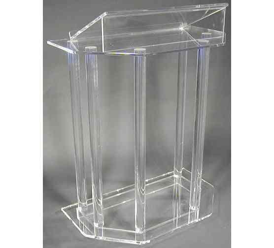 Modern Acrylic Smart Podium Plexiglass Pulpit School Church Lectern Podium Reception Desk