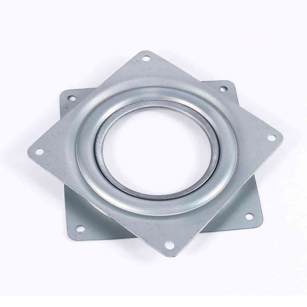 4 Inch Square Rotating Swivel Plate, Replacement Metal Lazy Susan Bearing Turntable Tv Rack Desk Seat Swivel Plate Bar Tool