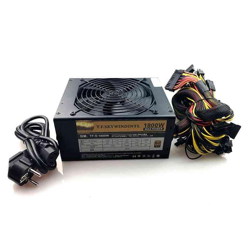 Pc Desktop Psu Gold 1800w Btc Power Supply For R9 380 Rx 470 Rx480 6 Gpu Cards Mining Rig