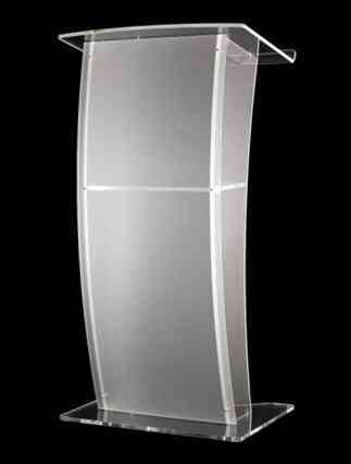 Wind Imported Acrylic Plexiglass High-end Podium, Welcome Reception Lectern