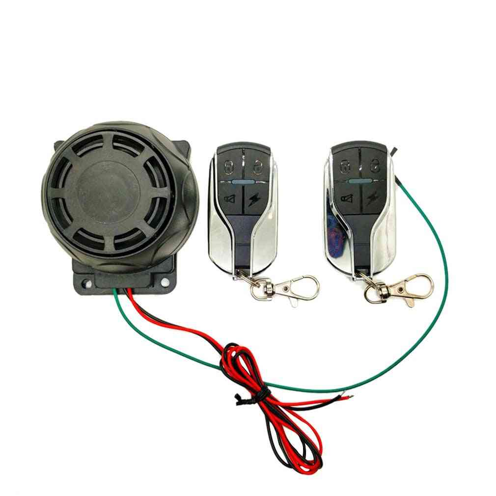 Dual Remote Control Motorcycle Alarm Security System, Theft Protection For Bike Moto Scooter