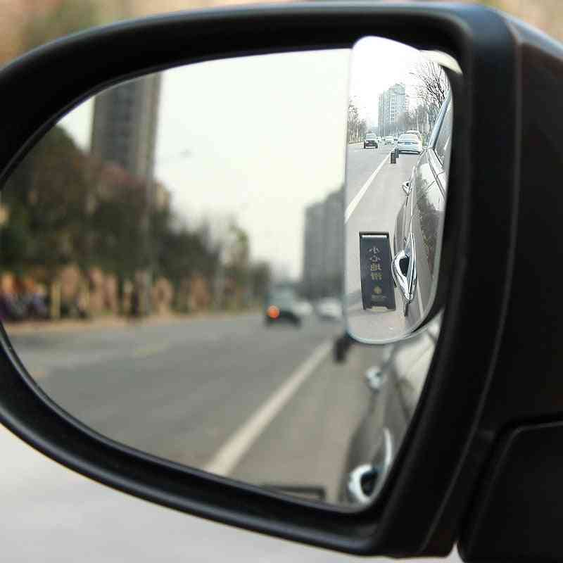 Car Wide Angle Rear View  Rotation Auto  Blind Spot Mirror