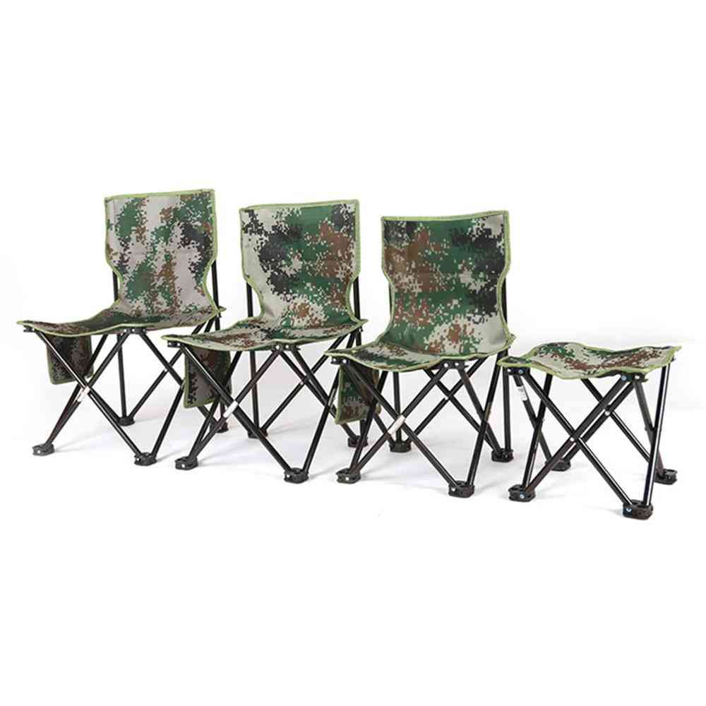 Foldable Four Corners Chair/camouflage Outdoor Stool