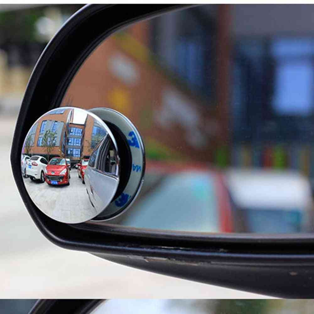 Rotatable Rimless Universal Wide Angle Round Blind Spot Mirror